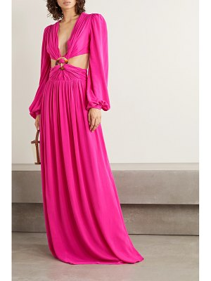 PatBo cutout neon crepe maxi dress