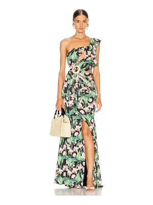 PatBo floral asymmetric maxi dress