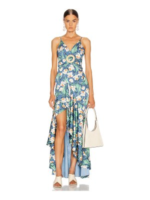 PatBo floral belted maxi dress