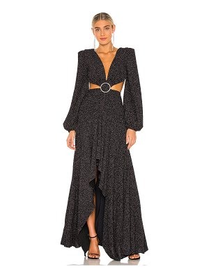 PatBo lurex cut out gown