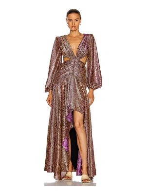 PatBo metallic cut-out gown