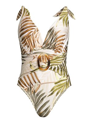 PatBo palmeira belted one-piece swimsuit