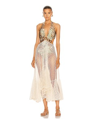 PatBo palmeira netted beach dress