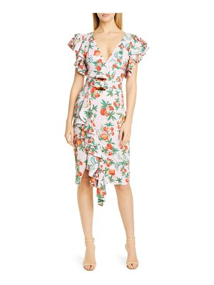 PatBo ruffle belted cocktail dress
