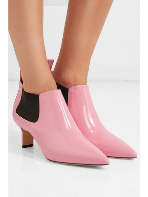 Paul Andrew ang patent-leather ankle boots
