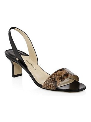 Paul Andrew python leather slingback sandals