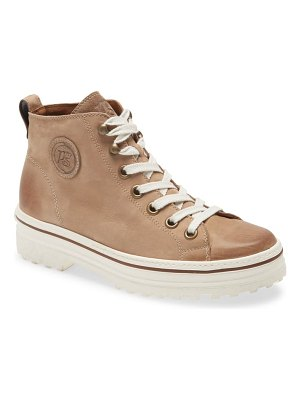Paul Green ember mid top leather sneaker