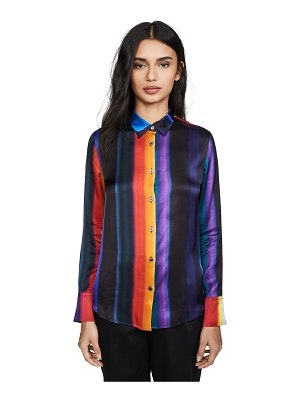 Paul Smith rainbow stripe button down shirt