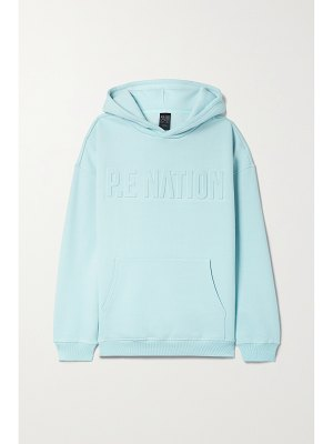 P.E NATION fadeaway embossed organic cotton-blend jersey hoodie