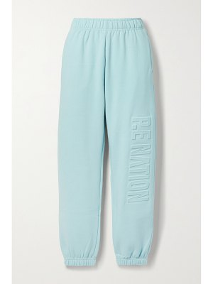 P.E NATION fadeaway embossed organic cotton-blend jersey track pants