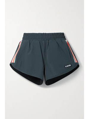 P.E NATION in goal striped recycled shell shorts