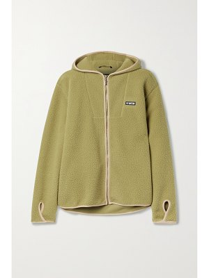 P.E NATION point in line hooded embroidered fleece jacket