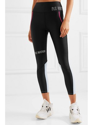 P.E NATION saber printed two-tone stretch leggings