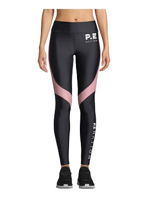 PE Nation The Chase Paneled Performance Leggings