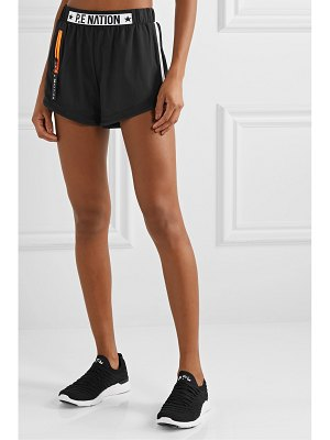 P.E NATION traverse mesh and shell-trimmed stretch shorts