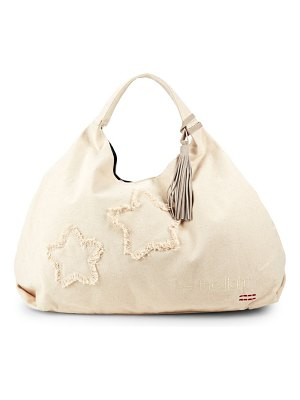 PEACE LOVE WORLD Denim Patch Hobo Bag