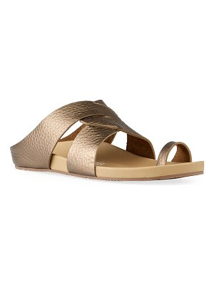 Pedro Garcia Almira Mix-Leather Slide Sandals