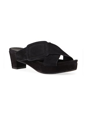 Pedro Garcia Nanette Crisscross Buckle Slide Sandals