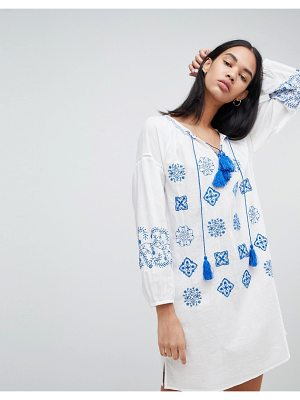 Pepe Jeans kate embroidered tunic dress