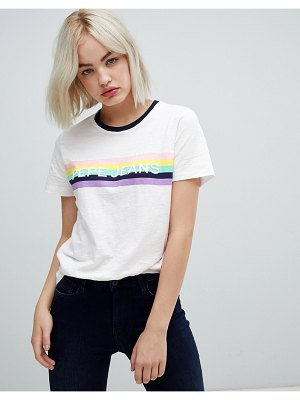 Pepe Jeans luca rainbow logo t-shirt
