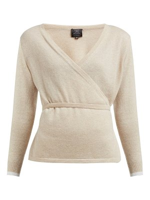 PEPPER & MAYNE cashmere and wool blend wrap cardigan
