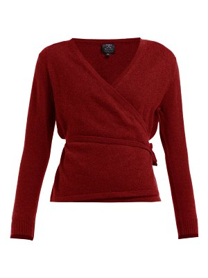 PEPPER & MAYNE wrap cashmere and wool blend cardigan