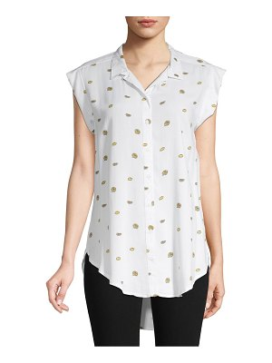 Alexander Jordan Printed Button-Down Top