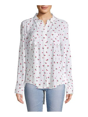 Alexander Jordan Printed High-Low Button-Down Shirt