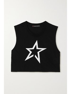 Perfect Moment cropped printed jersey tank