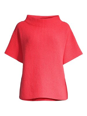 Peserico funnelneck short sleeve sweater