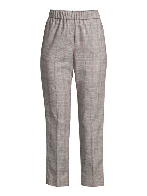 Peserico plaid cropped pull-on pants