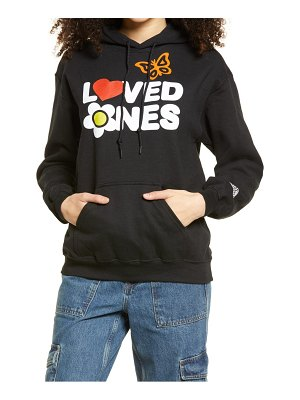 Petals and Peacocks loved ones graphic hoodie