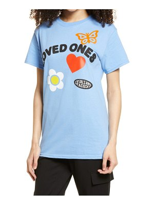 Petals and Peacocks loved ones graphic tee