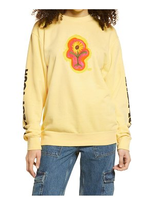 Petals and Peacocks protect your energy floral graphic sweatshirt