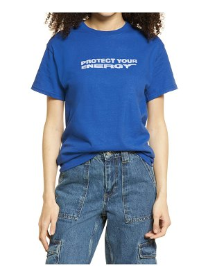 Petals and Peacocks protect your energy graphic tee