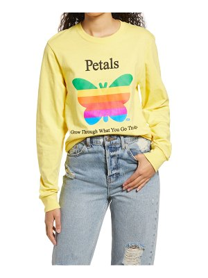 Petals and Peacocks think growth long sleeve graphic tee