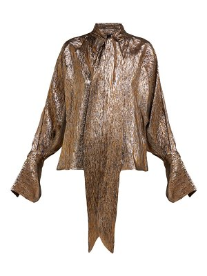 Petar Petrov brook metallic silk blend blouse