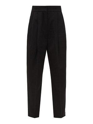 Petar Petrov hampton high rise wool twill cropped trousers