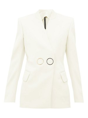 Petar Petrov jestine collarless double breasted wool jacket