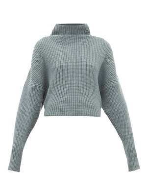 Petar Petrov kate funnel neck ribbed cashmere sweater