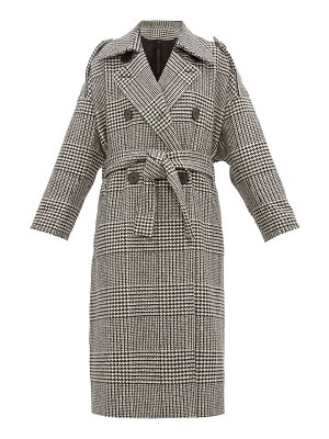 Petar Petrov mila double breasted checked wool coat