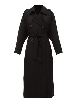Petar Petrov mina double-breasted belted trench coat