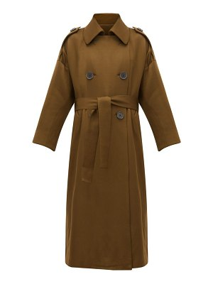 Petar Petrov mona double-breasted wool-blend trench coat