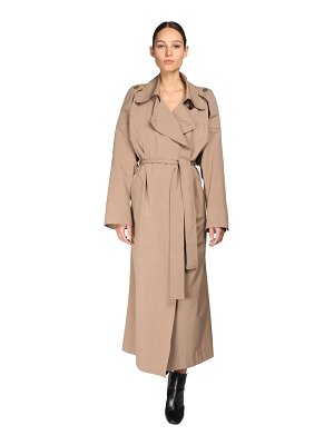 Petar Petrov Oversize cotton & silk trench coat