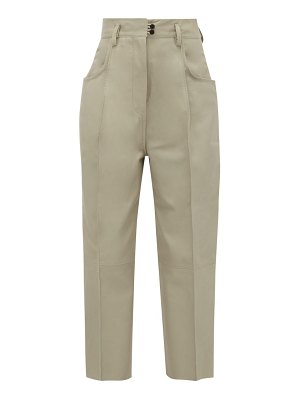 Petar Petrov wide-leg cropped leather trousers