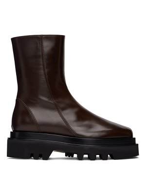 Peter Do brown combat boots