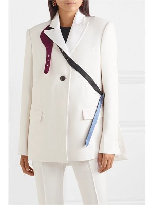 Peter Do buckled satin-trimmed crepe blazer
