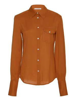 Peter Do classic button-front voile top