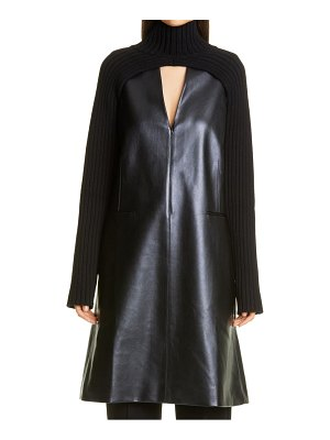 Peter Do sleeveless faux leather dress