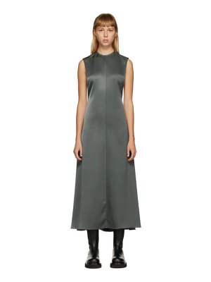 Peter Do ssense exclusive  half twill half satin open back dress